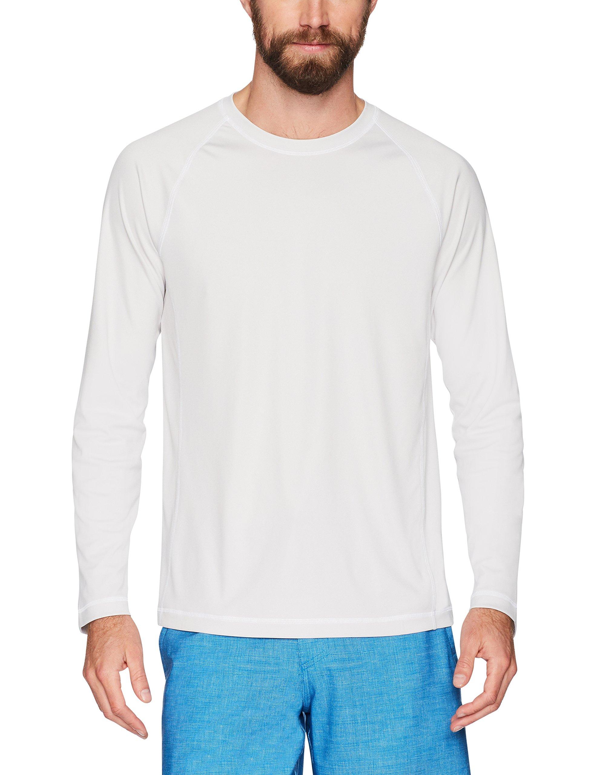 Amazon Essentials Men's Long-Sleeve Quick-Dry UPF 50 Swim Tee, Silver, Medium by Amazon Essentials (Image #3)