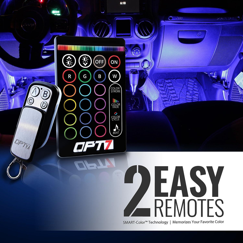 Color lines online strip game - Amazon Com Opt7 Aura Smart Color Led Strip Interior Lighting Kit 4 Items Automotive