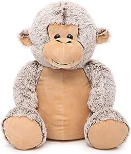 DOLDOA Soft Stuffed Animals Monkey Cute Plush Monkey Toy for Kids 18 inch (Light Coffee)