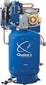 Quincy QT-10 Splash Lubricated Reciprocating Air Compressor - 10 HP, 208 Volt, 3 Phase, 120 Gallon Vertical, Model Number P2103DS12VCB20