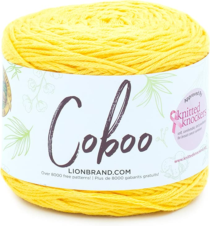Lion Brand Yarn 835-133 Coboo Yarn Pack of 3 Cakes Orange