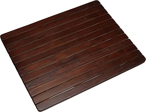 ALATEAK Wood Grate Shower Bath Spa Waterproof Floor Door Mat Brown 23