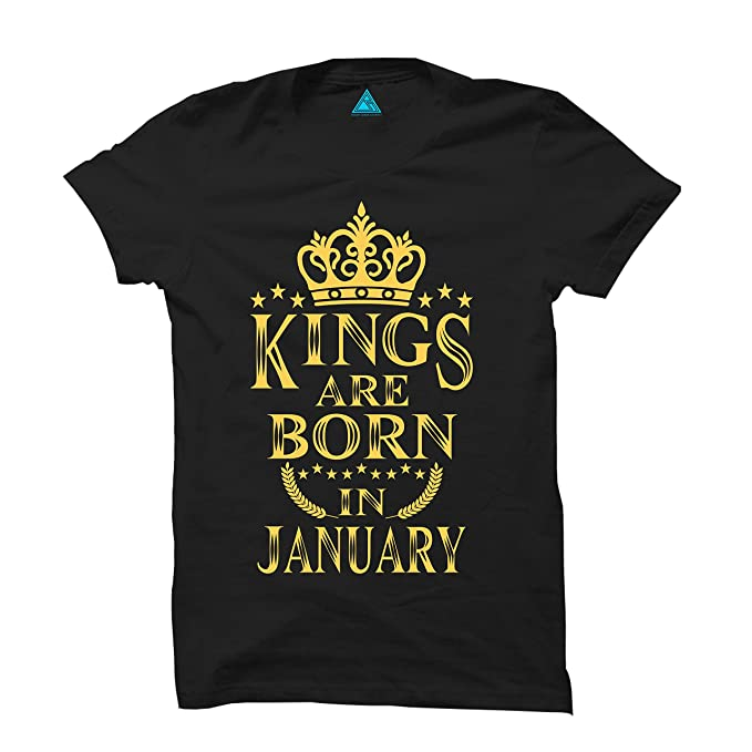 d88669ce KINGS ARE BORN IN JANUARY BIRTHDAY BOYS T SHIRT (JANUARY): Amazon.in:  Clothing & Accessories