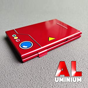SpunKo Premium Game Card Case for Nintendo Switch, Aluminum, Portable & Thin Game Card Storage Holder Box with 6 Cartridge Slots (Color: Red, Tamaño: Portable and thin)