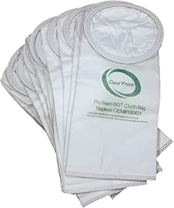 Casa Fresh 10 PK HEPA ProTeam 100431 Replacement Vacuum Bags. Compatible with 6 QT Models