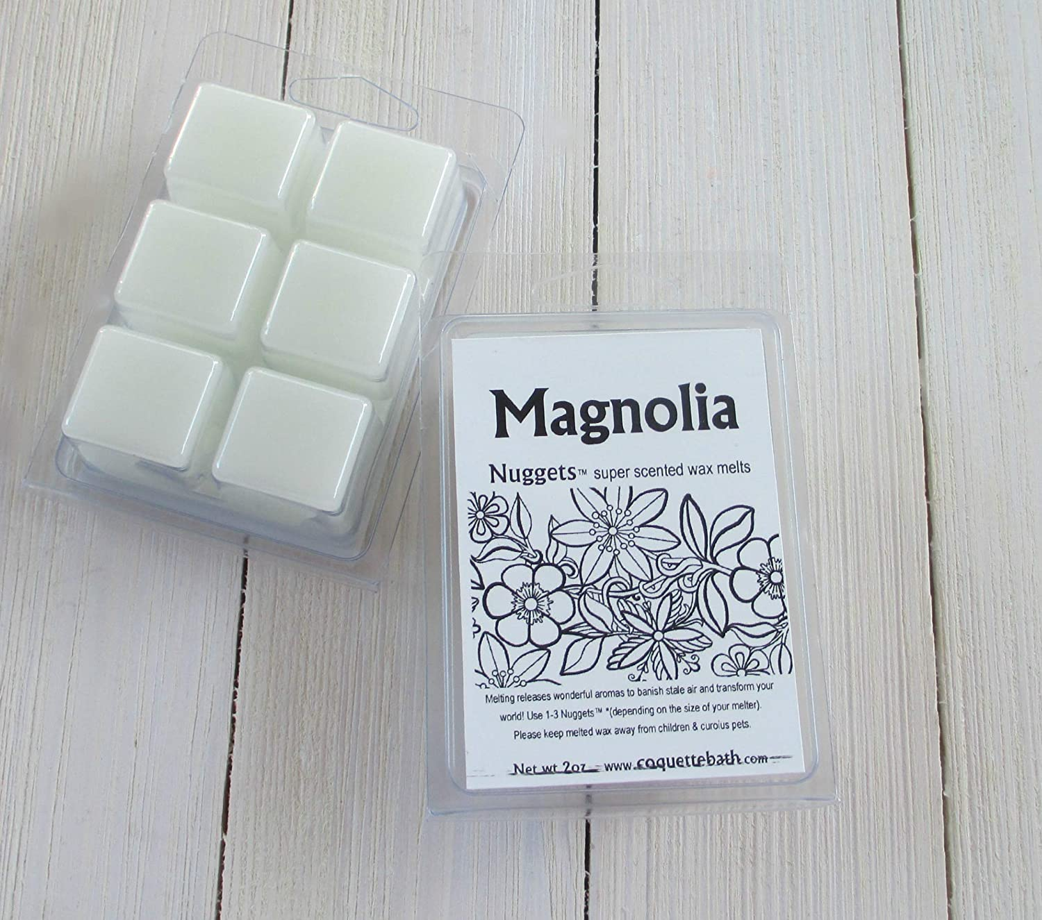 Magnolia wax melts, 2 package Deal, classic sweet floral fragance