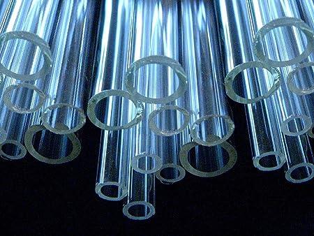 10 Transparent 8mm Amber Borosilicate 12 Tubing Devardi Glass COE 33 Boro Tubes