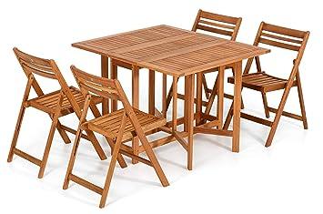 Casa e Stile California Dining - Conjunto de mesa y 4 sillas ...