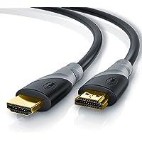 CSL - 5m cable de HDMI - Ultra HD 4k HDMI | Alta velocidad con Ethernet | Full HD 1080p / 4K Ultra HD 2160p / 3D / ARC y CEC | Cable de blindaje triple + blindaje de conector y contactos