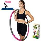 Better Sense Hoola Hoop for Adults - 8 Section Detachable Hoola Hoops, 2lb Weighted Hoola Hoop for Exercise - Portable…