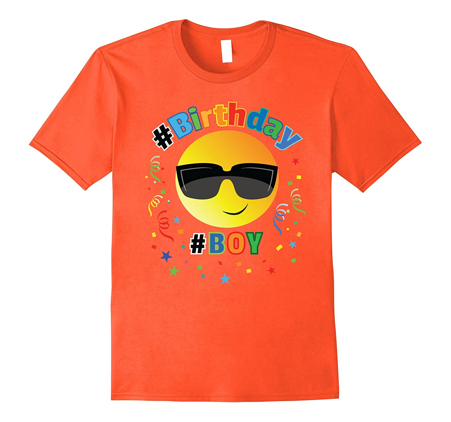 Cool Emoji Birthday Shirt For Boys 6 7 8 9 10 11 12 Vaci