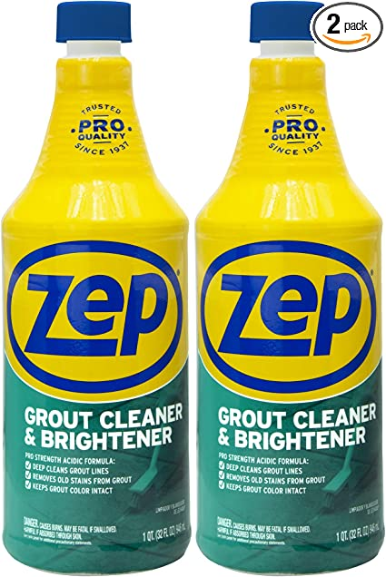 zep grout cleaner and brightener 32 ounce zu104632 pack of 2 deep cleaning pro formula