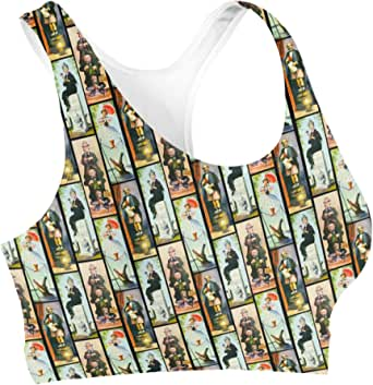 Rainbow Rules Haunted Mansion Stretch Paintings Sports Bra - XL Black