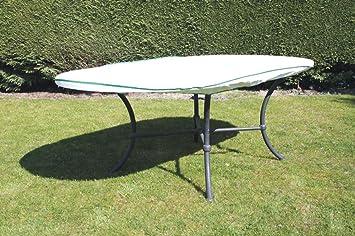 Housse table de jardin ovale Exclusive en Tyvek blanc avec ...