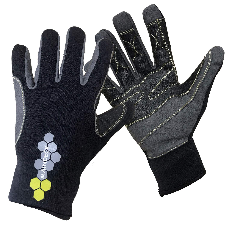 Maindeck Elite 3 Season Neoprene Sailing Gloves 2019 M by Maindeck