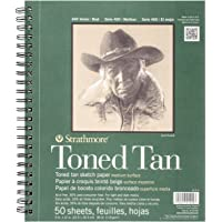 "Strathmore Tan Drawing 400 Series Toned Sketch Pad, 9""x12"", 50 Count"