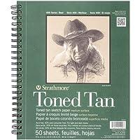 Strathmore 400Series Toned Tan–Bloc de dibujo, 22,9x 30,5cm Bound de alambre, 50hojas