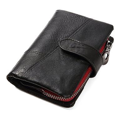 385086dc82 Men's Wallet, Minimalist Vintage Cowhide Leather Wallet With zipper pocket  for men