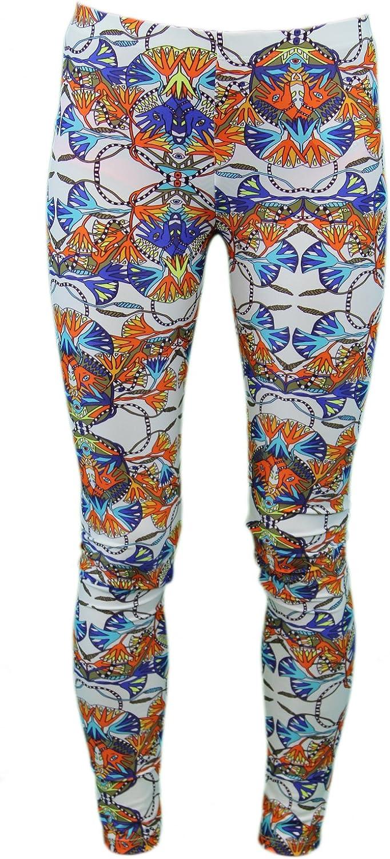 Mara Hoffman Lotus White Graphic Resort Wear Leggings