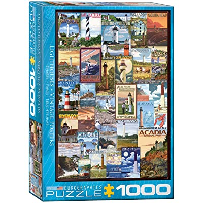 EuroGraphics Lighthouses Vintage ADS Puzzle (1000 Piece): Toys & Games