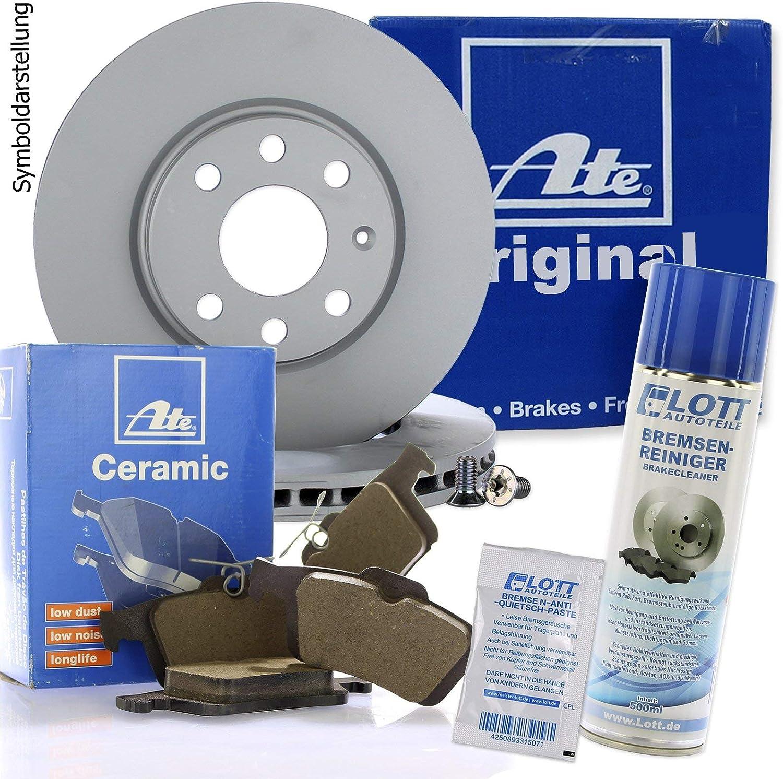 Original Ate Bremsscheiben Vorne Ate Ceramic Bremsbeläge Keramik Bremsklötze Bremsenset Bremsenkit Komplettset Vorderachse Bremsenreiniger Auto