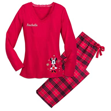 e67fa1dc02 Disney Minnie Mouse Holiday Plaid PJ Set for Women - Size Ladies L  Multi449019241248