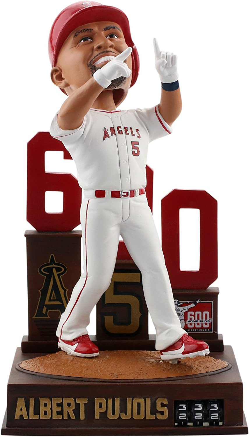 Forever Collectibles Albert Pujols Los Angeles Angels 600 Home Run - Home Run Tracker Bobblehead MLB