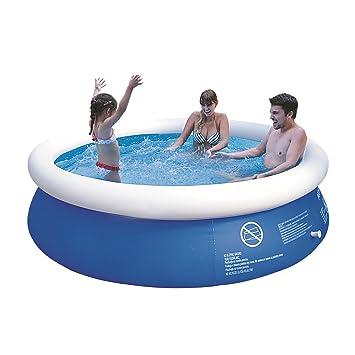 Swimmingpool im garten kinder  Jilong Marin Blue Rundpool Ø 240x63 cm Quick-Up Swimming Pool Fast ...