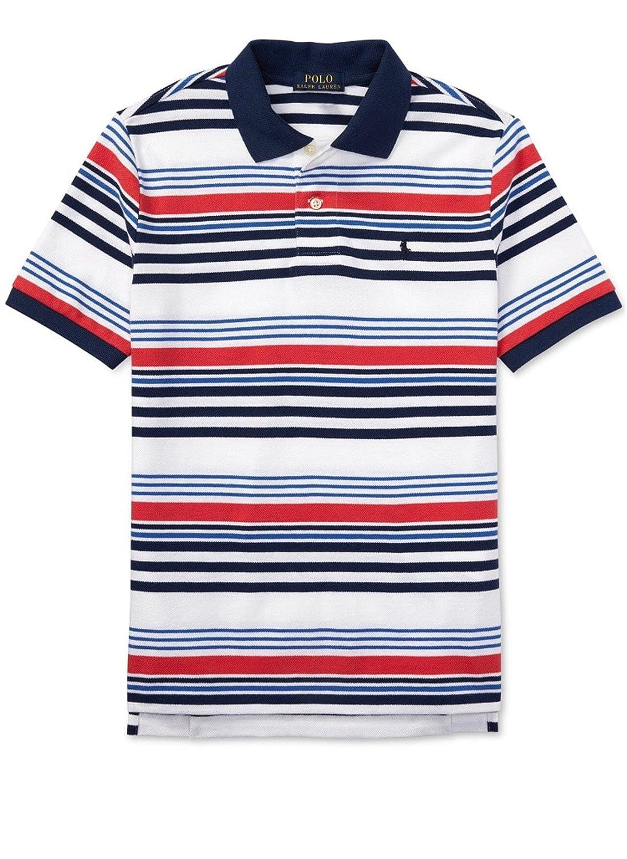 Red Multi 323605627001 Ralph Lauren Boys Striped Polo Shirt