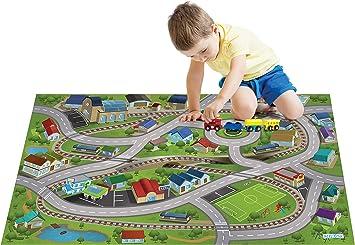 House Of Kids Casa de Niños estación de Tren de la Estera del Juego: Amazon.es: Juguetes y juegos