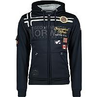 Geographical Norway GARADOCK Męska bluza z kapturem i zamkiem błyskawicznym, bluza z logo, długi rękaw, ciepła casualowa…