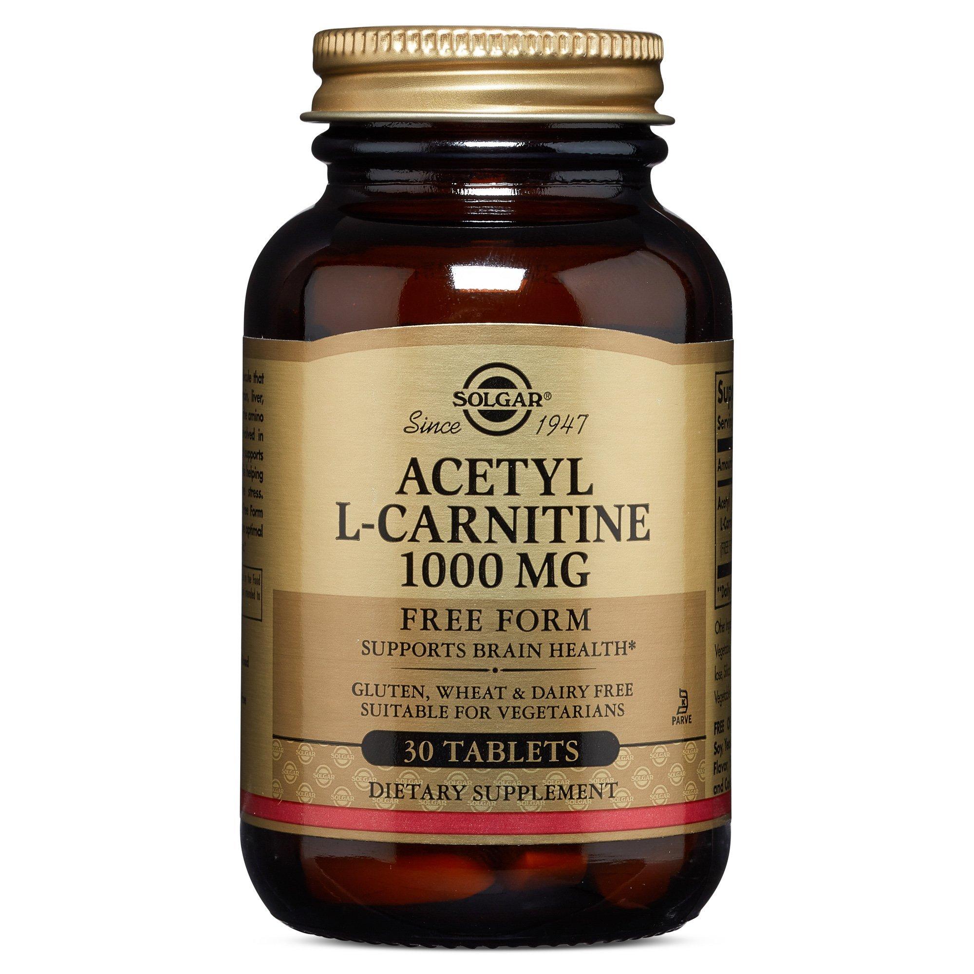 Solgar - Acetyl L-Carnitine 1000 mg, 30 Tablets