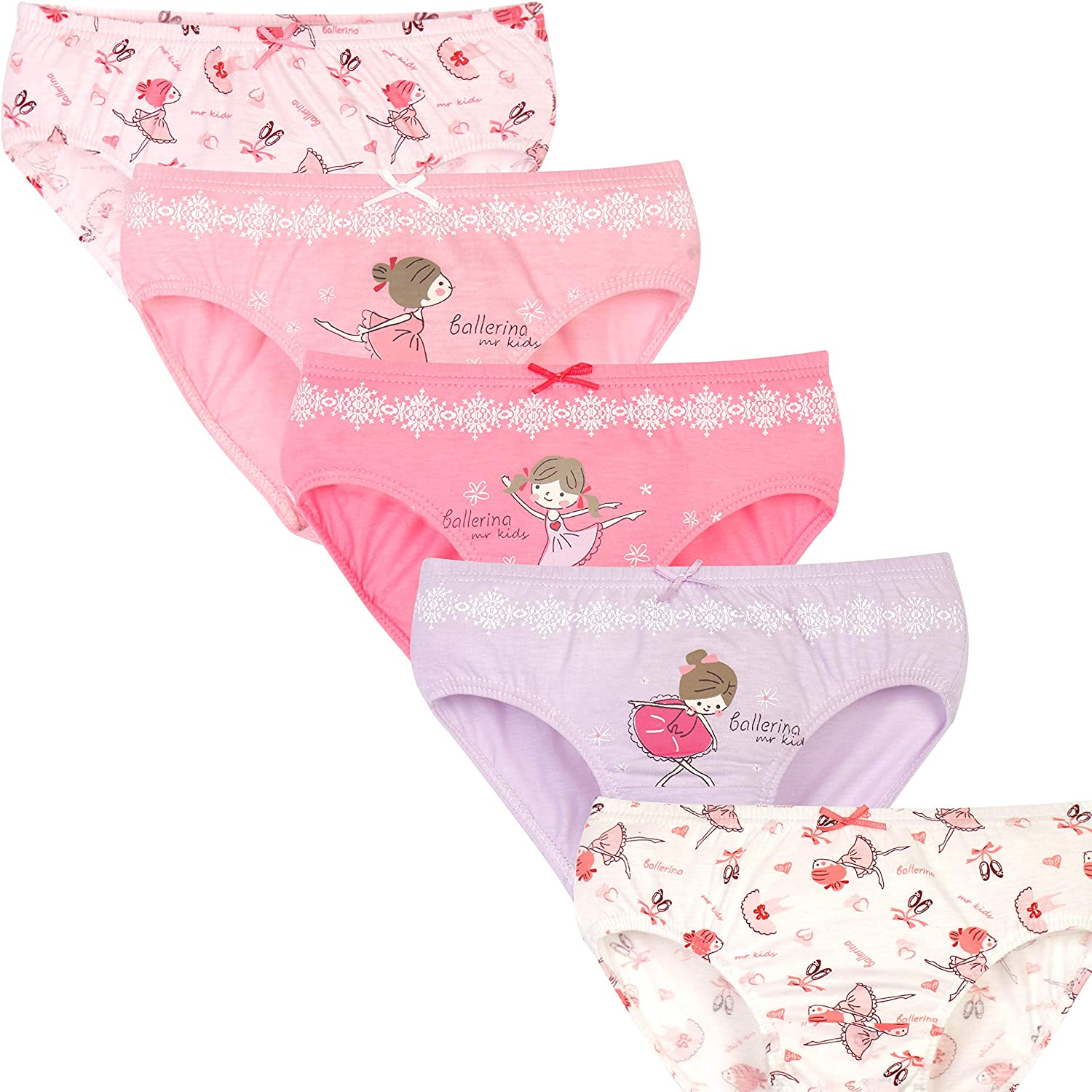 a1b83297410e Amazon.com: MRKIDS Toddler Baby Girl's Cotton Briefs Underwear (Pack of 5):  Clothing