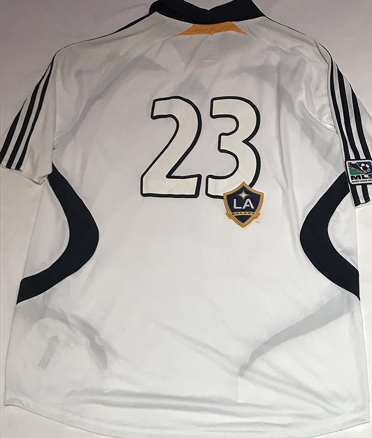 cc2285910ad Amazon.com : adidas Men's MLS Los Angeles Galaxy #23 Home Replica Jersey  (Large) : Sports & Outdoors