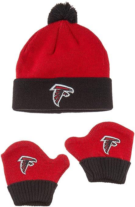 Amazon.com   OTS NFL Atlanta Falcons Pow Knit Cap   Mittens Set 5b020e07d58b