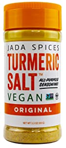 JADA Spices Turmeric Salt Spice and Seasoning - Vegan, Keto & Paleo Friendly - Perfect for Cooking, BBQ, Grilling, Rubs, Popcorn and more - Preservative & Additive Free