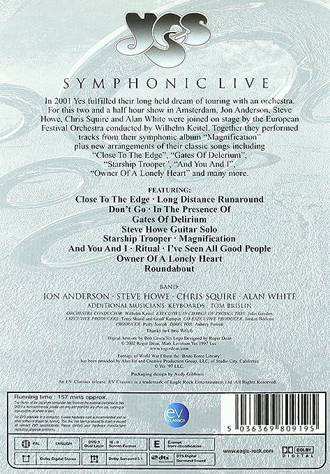 Yes shymphonic live [Reino Unido] [DVD] [Reino Unido]: Amazon.es ...