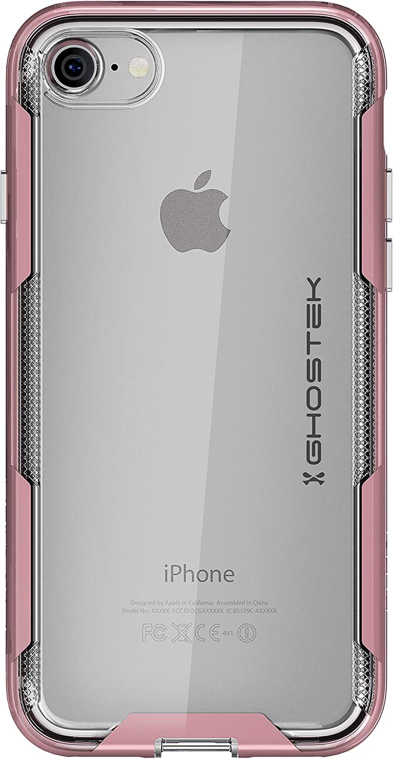 Ghostek Cloak Ultra-Thin Shock Absorbing Case Designed for iPhone 8 & iPhone 7 - Pink