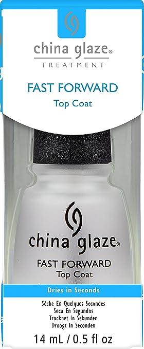 China Glaze Fast Forward Top Coat Nail Polish 05 Ounce