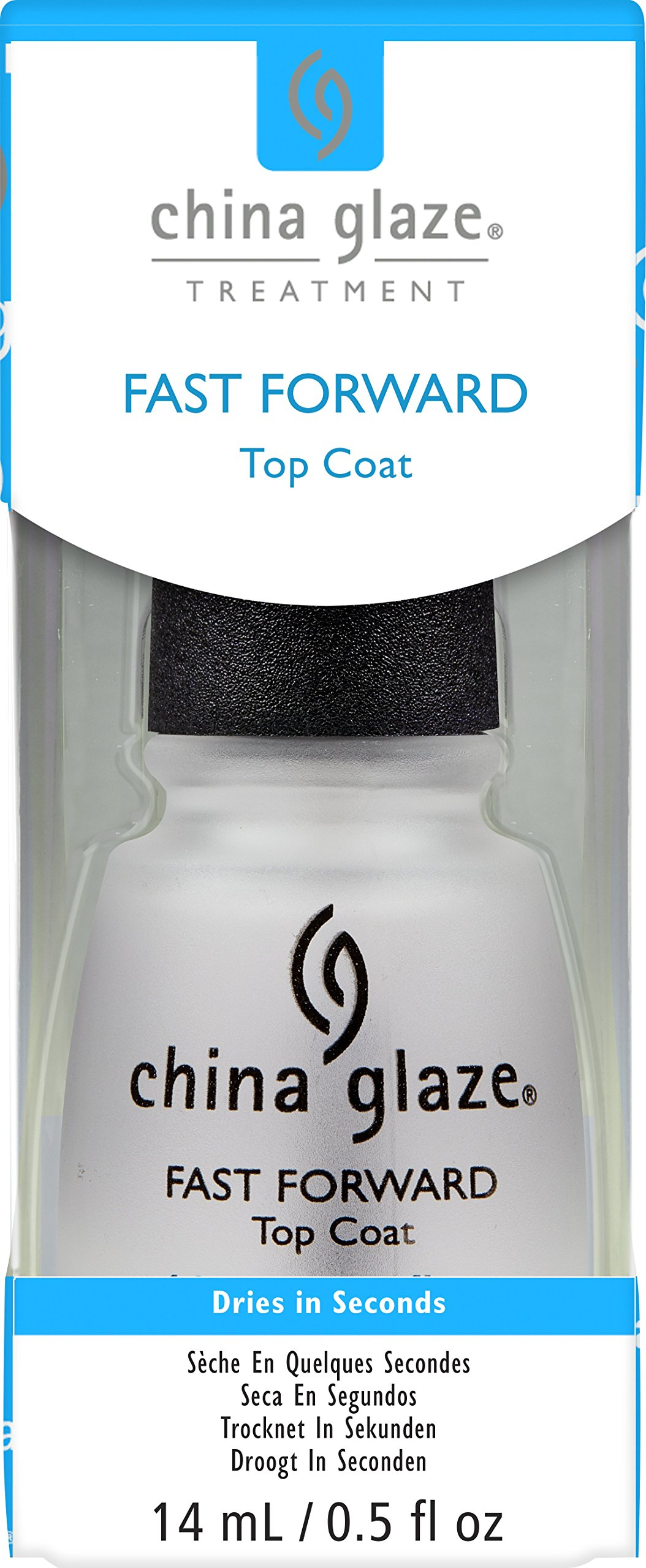 China Glaze Fast Forward Top Coat Nail Polish, 0.5 Ounce