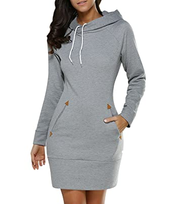0885c48884d Sweat a Capuche Femme Sweat Shirt Sweats à Capuche Pull Long Hoodies  Sweatshirt Oversize Sweat-