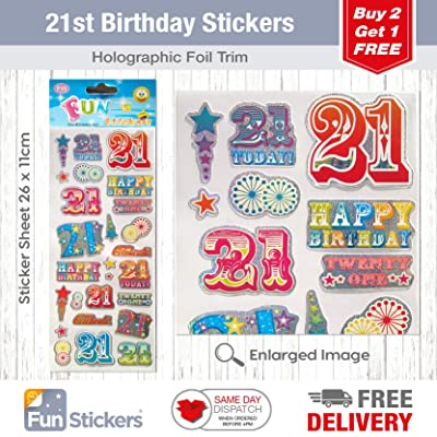 Fun Stickers 21st Birthday 943: Kitchen & Dining