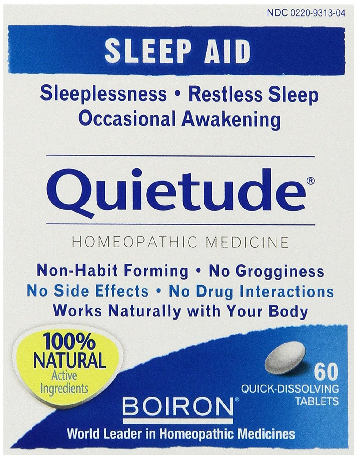 Boiron Quietude - 60 tabs (Pack of 4)