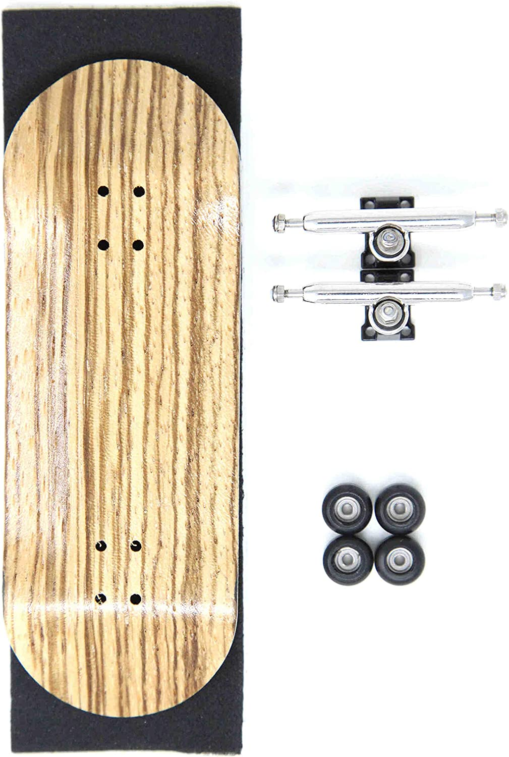 Skull Fingerboards Mona 34mm Pro Complete Professional Wooden Fingerboard Mini Skateboard 5 PLY with CNC Bearing Wheels