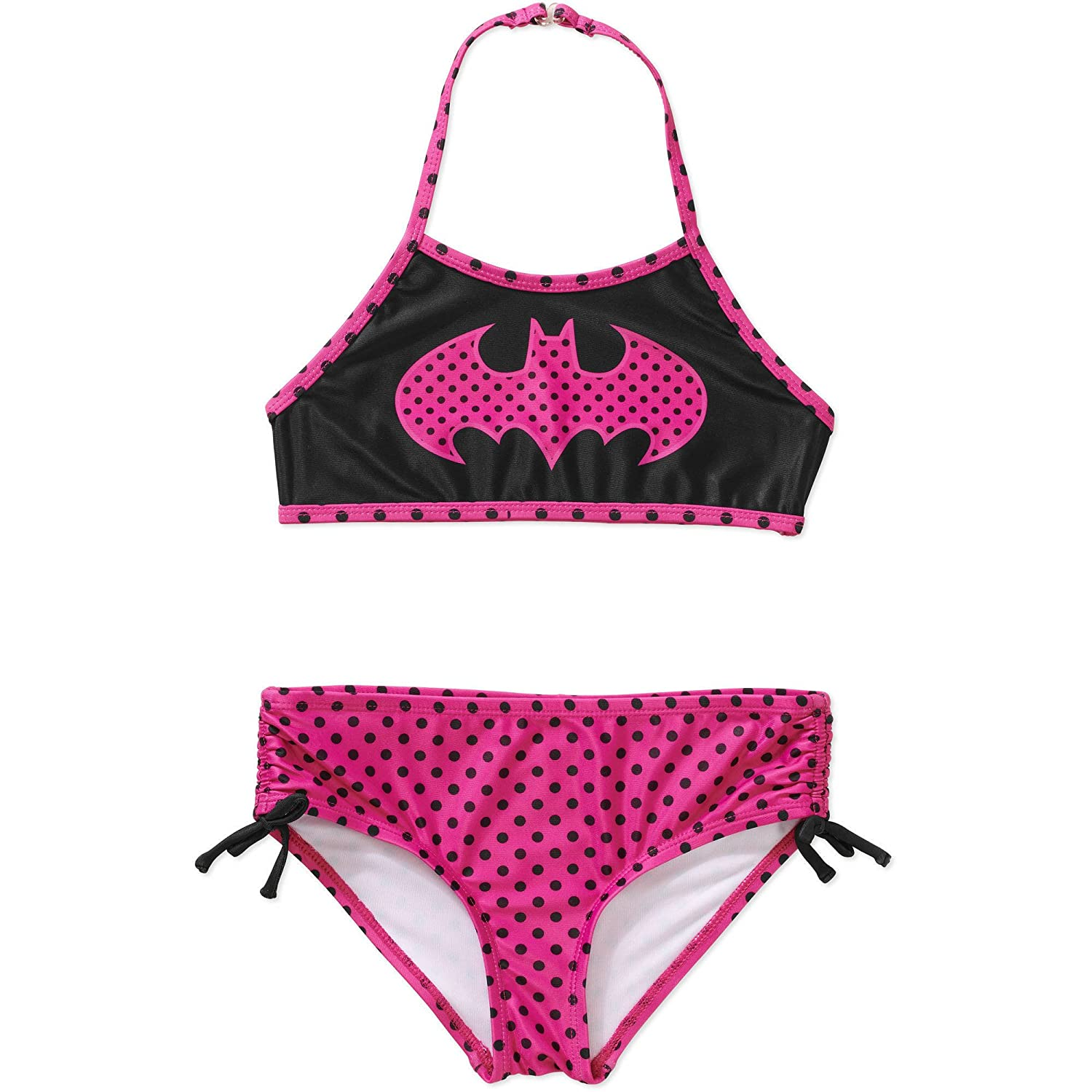DC Comics Batman Batgirl Polka Dot Tankini Swimsuit For Girls 6//6X