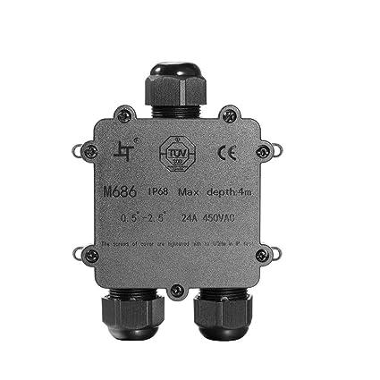Caja de Conexiones, Cable conector grandes de 3 Vías caja de derivación conector de iluminación
