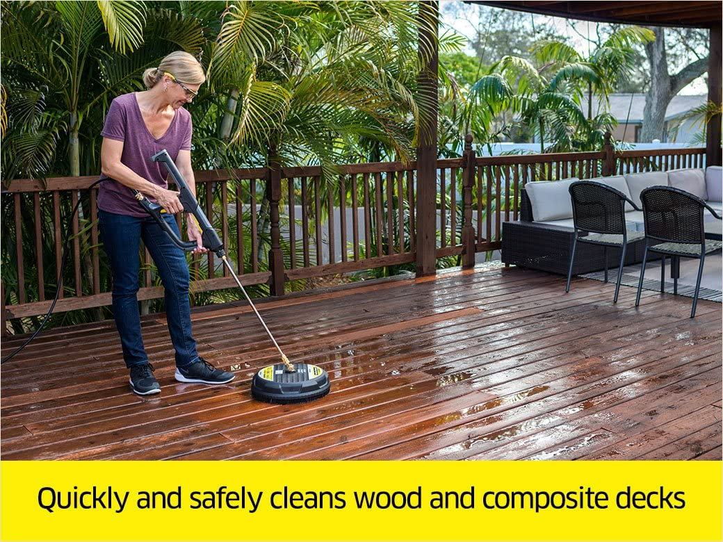 Karcher surface cleaners are great for cleaning wooden decks and concrete patios