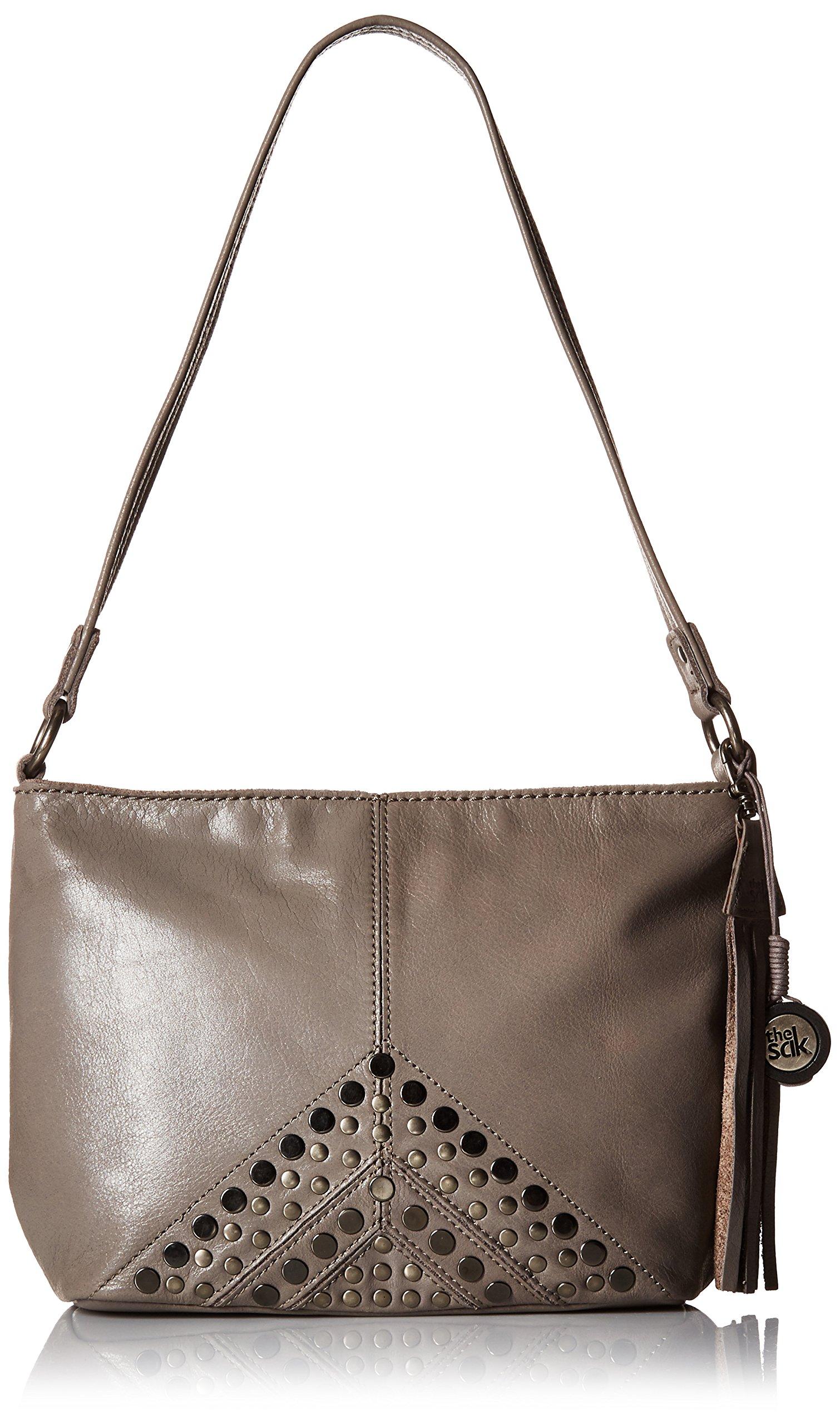 The Sak Indio Leather Demi Shoulder Bag (Slate Studs) by The Sak