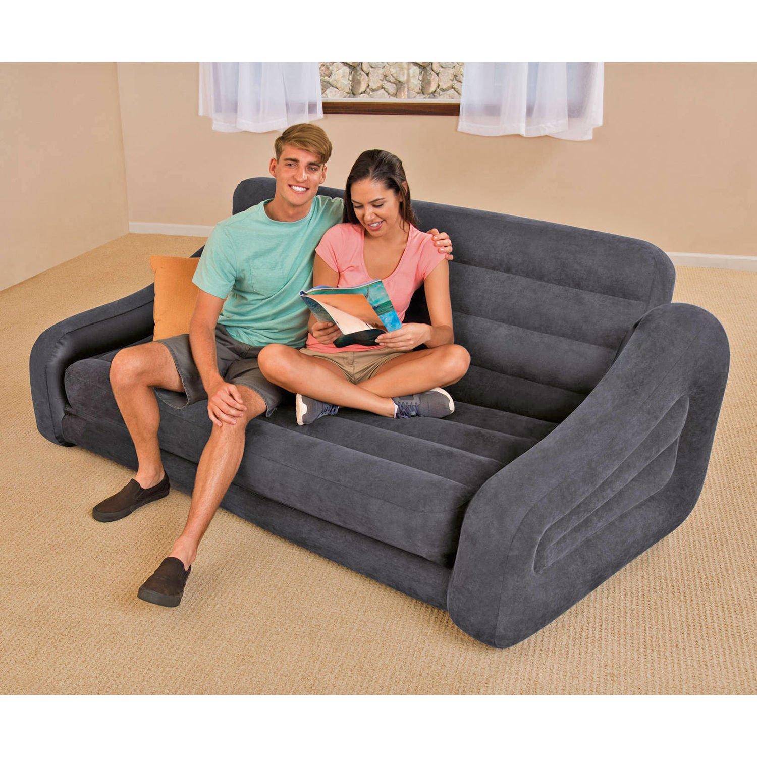 Couch Bed Sofa Sectional Sleeper Futon Living Room Furniture Loveseat Guest NEW by Intex (Image #1)