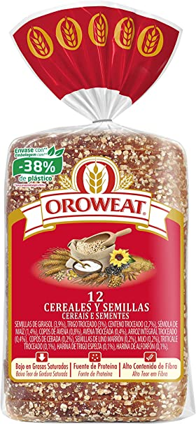 Oroweat 12 Cereales y Semillas, pan multicereales con corteza 680g ...